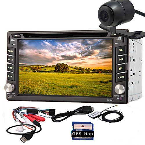 Special Offers - Rear Camera Windows CE 8.0 Car Stereo 6.2 Inch Car GPS Navigation iPod Analog TV AM/FM Radio HD Touchscreen Car DVD Player Double 2 Din Audio In Dash Head Unit BluetoothFree Map Card - In stock & Free Shipping. You can save more money! Check It (June 24 2016 at 01:00AM)…