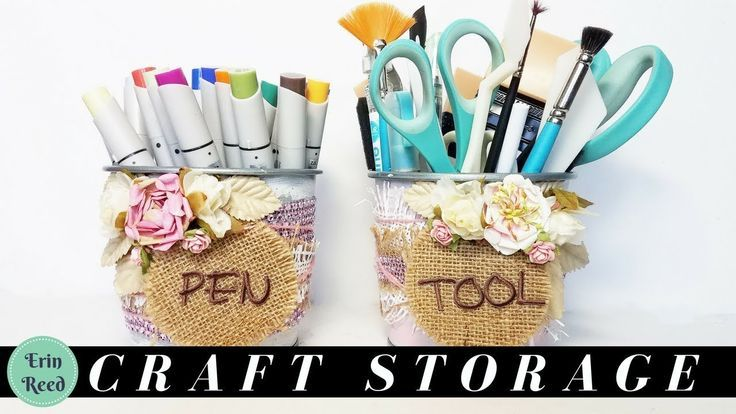 Altered Set of Ikea Tins for Crafty Storage