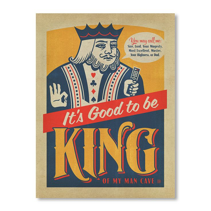 Good to be King - Art Print by For The Boys Room on POP.COM.AU