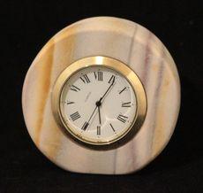 Zebra Stone Quartz Clock