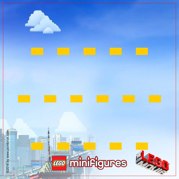 LEGO Minifigures 71004 Serie The LEGO Movie  - Display Frame Background 230mm - Clicca sull'immagine per scaricarla gratuitamente!