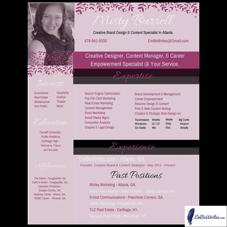 Ladies I just took #PrettyInPink to a whole new level with this - content manager resume