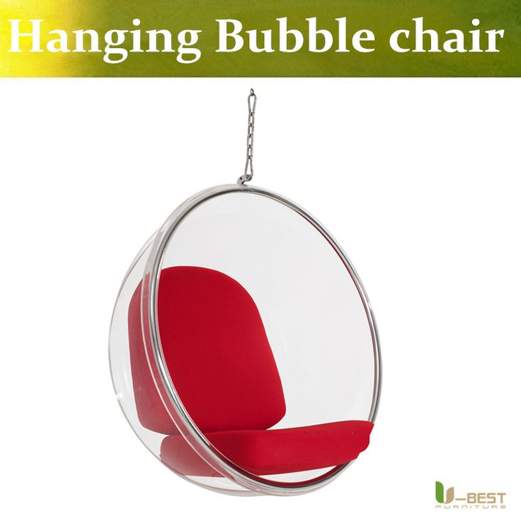 U-BEST Modern swing clear hanging bubble chair,Eero Aarnio transparent arylic ball chair