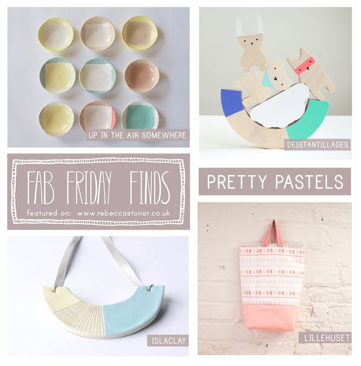 Fab Friday Finds - week 20 - Pretty Pastels - on Rebecca Stoner www.rebeccastoner.co.uk