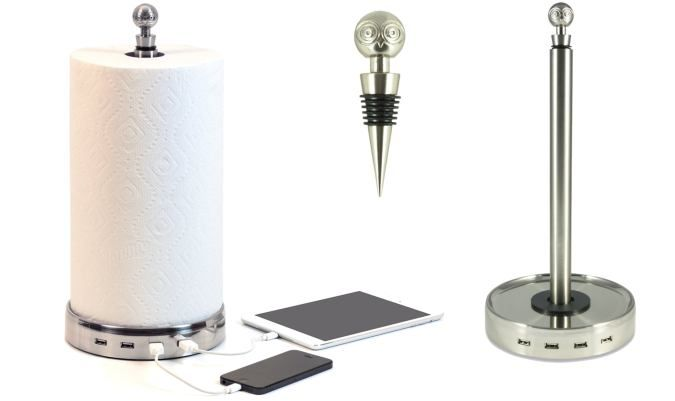 A Paper Towel Holder With USB Charging Capabilities?