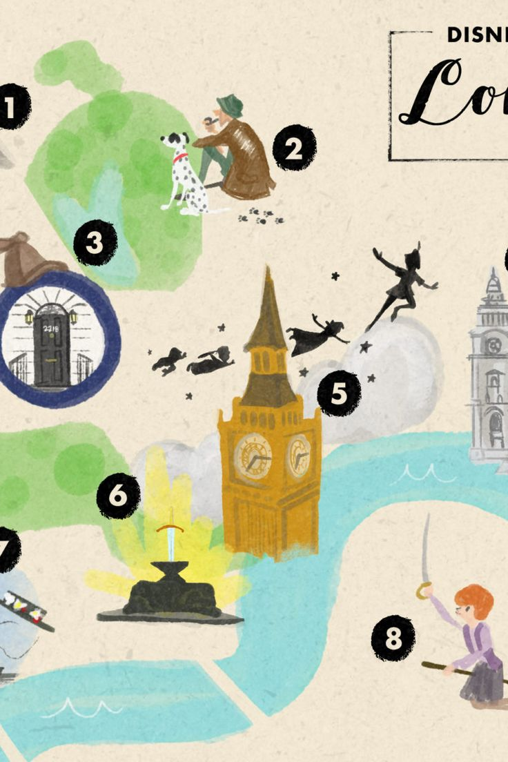 The Disney Map Of London
