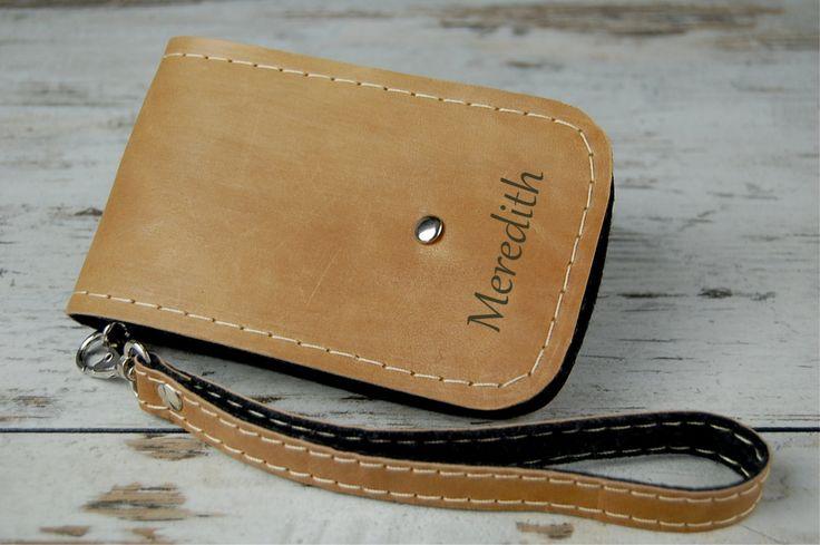 Leather iPhone 6 case, Leather iPhone 6 sleeve, iPhone leather sleeve, iPhone leather case, Felt case by etoidesign on Etsy