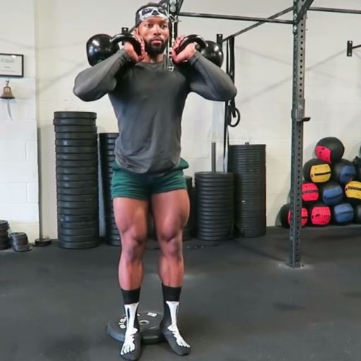 Sweat Wow Killer Kettlebell Workout: Add Obi Vincent's Quad Workout To Your Next Routine!