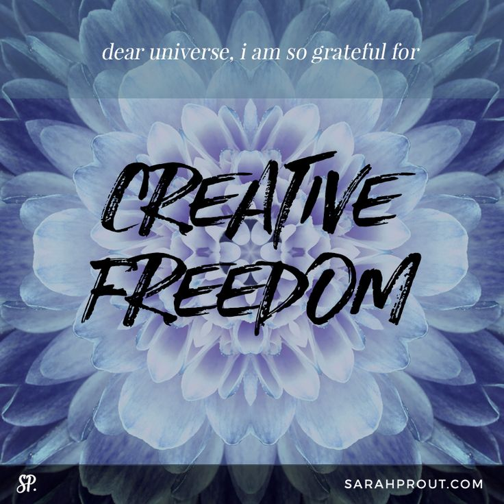 Dear Universe: I am so grateful for CREATIVE FREEDOM.  A secret to truly mastering affirmations: The Universe cannot differentiate between what is happening in the physical realm, or what is happening and being imprinted in the spiritual realm. When you use your affirmation as if it has already happened, then you strengthen your manifesting power. #MANIFEST