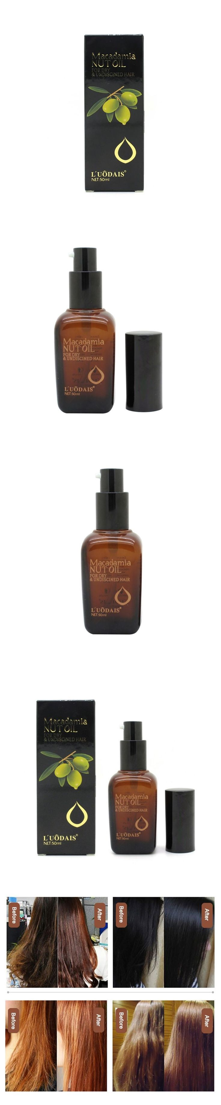 Hair Care Hair Conditioner 100% Pure Moroccan Argan Oil Macadamia Nut Oil Scalp Treatment 50ML New
