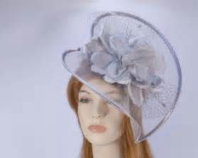 Grey cocktail fascinator hat for wedding Melbourne Cup Ascot racing buy online