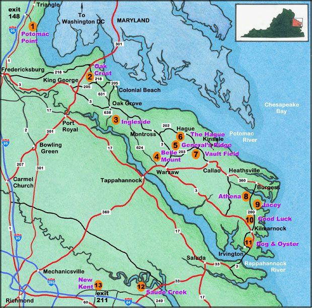 Map Of Virginia Beach And Reedville Va