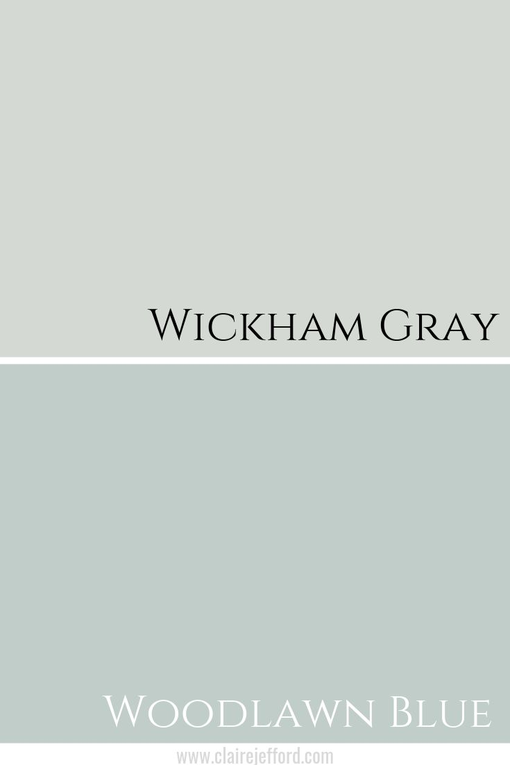 Best Benjamin Moore Wickham Gray Woodlawn Blue White Paint 400 x 300