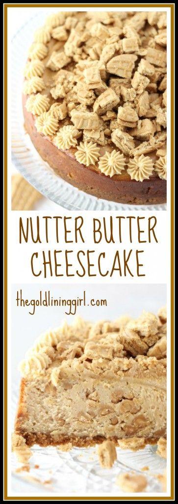 nutter butter peanut butter cheesecake pin