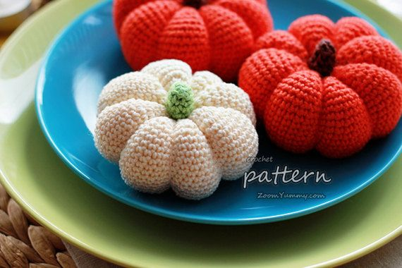 Crochet Pattern Crochet Pumpkins Pattern No. 004 by ZoomYummy