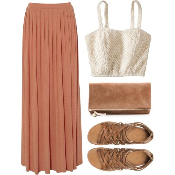 bustier with maxi skirt, love this combo.