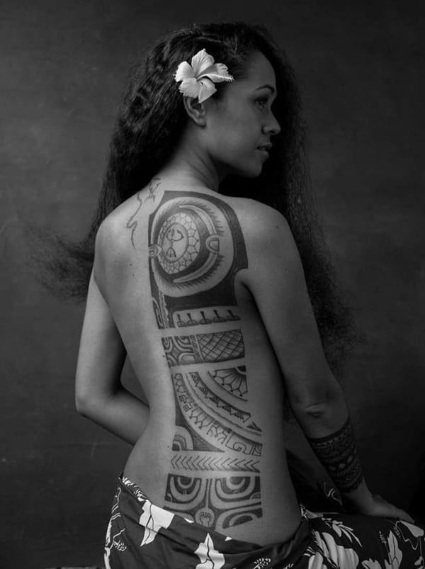 Polynesian Tattoo Designs for Men and Women2 #polynesiantattooswomen #maoritattooswomen #marquesantattoosformen