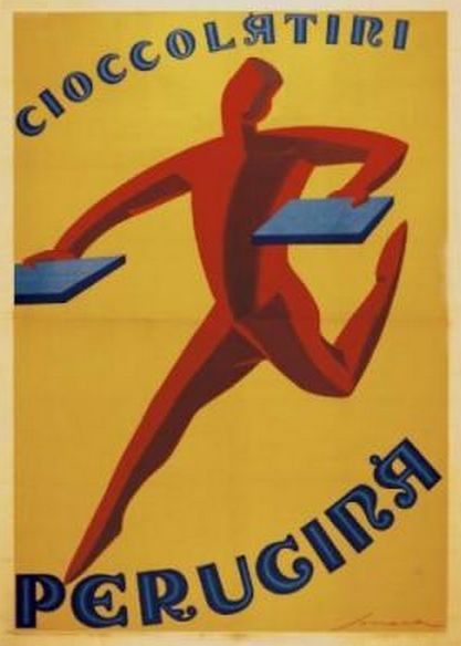 """By Federico Seneca, 1929, """"Cioccolatini Perugina""""."""