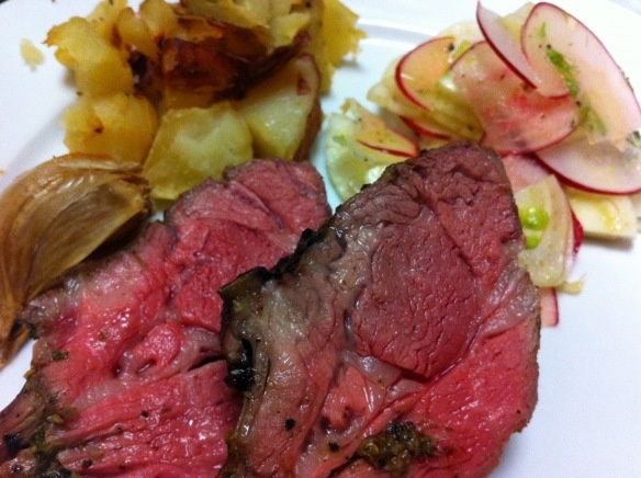 Greek-style slow roast lamb rack
