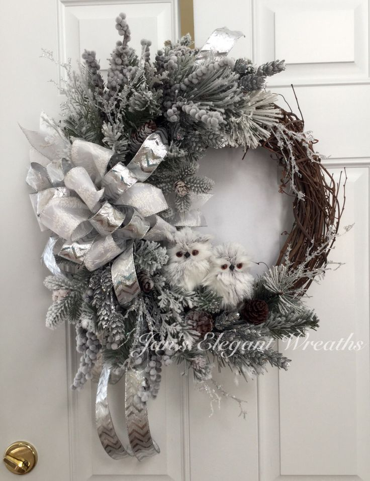 Christmas Wreath with Owls The 15 best
