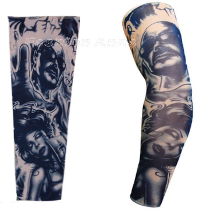Новые Стили Упругой Поддельные Рукава татуировки Орел Бороться Змея Мя захватами чулки 3D Арт Дизайн Татуировки Мужчины-Женщины Бесплатно доставка