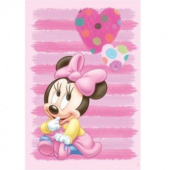 Un adorabil covor roz, pe care fetitele il vor iubi la prima vedere. Minnie cea dragalasa va inseli camera fetitei tale si o va binedispune pentru intreaga zi. Culorile rezistente ale covorului Disney Babyes 309, textura moale si intretinerea usoara fac parte din acest model vesel si unul foarte practic.