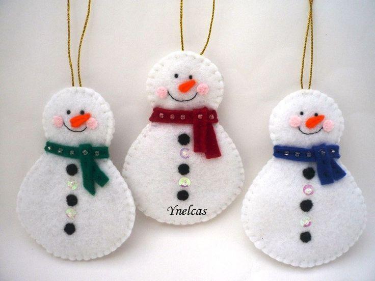 Bonhomme de neige en feutrine Noël ornement bonhomme par ynelcas