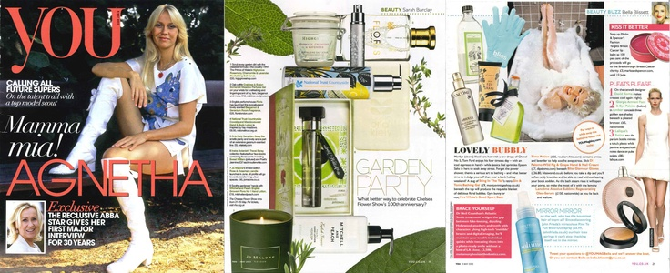 Floral beauty and bath-time bliss with Roullier White and Mitchell and Peach in The Mail On Sunday, YOU Magazine.