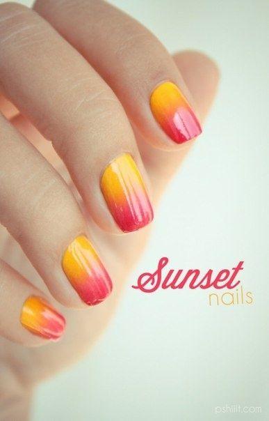 Sunset nails!