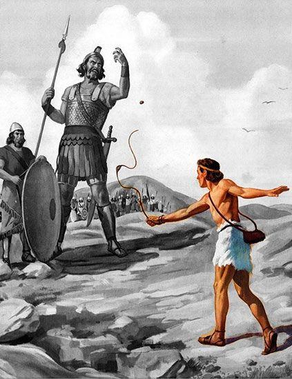 Страх говорит, что Голиаф слишком большой чтобы победить... а вера говорит, что он слишком большой чтобы промахнуться...