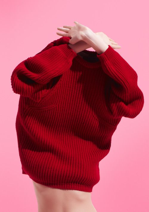 1 & 6 // love, red, cardigan, sweater, pink, cute, fashion, tumblr, aesthetic, kawaii
