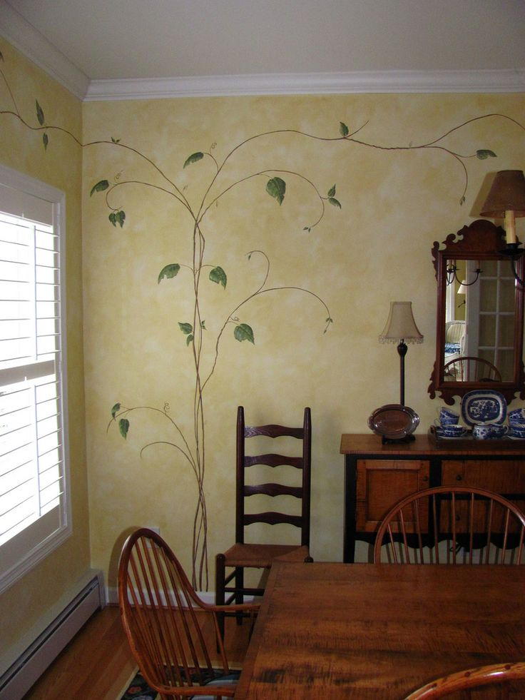 dining room color wash and branches/vines | denise mon | Flickr