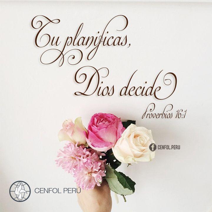 Proverbios 16:1-3 Del hombre son las disposiciones del corazón; Mas de Jehová es la respuesta de la lengua. Todos los caminos del hombre son limpios en su propia opinión; Pero Jehová pesa los espíritus. Encomienda a Jehová tus obras, y tus pensamientos serán afirmados.♔