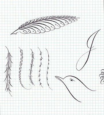 A Place To Flourish: Calligraphy Flourish Friday - Feathers