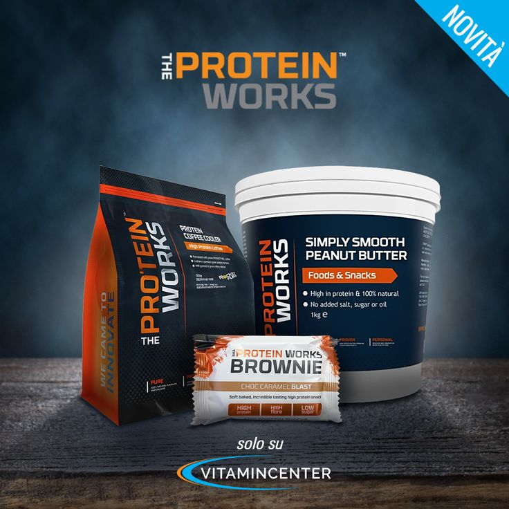 NEW BRAND | THE PROTEIN WORKS > www.vitamincenter.it/brands/the_protein_works è un marchio innovativo, in grado di rispondere alle esigenze di sportivi e non.
