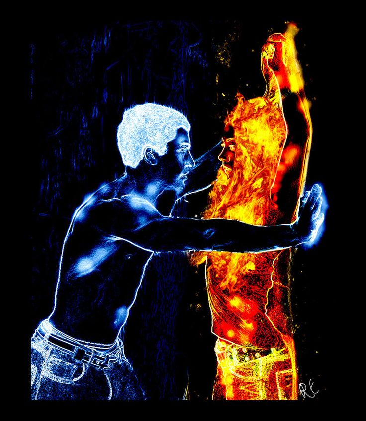 Super hot laser image for fire and ice themed dance