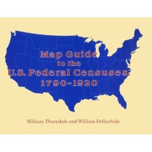 Map guide to the US federal censuses 1790-1930.  Some of the older ones are difficult to decipher.