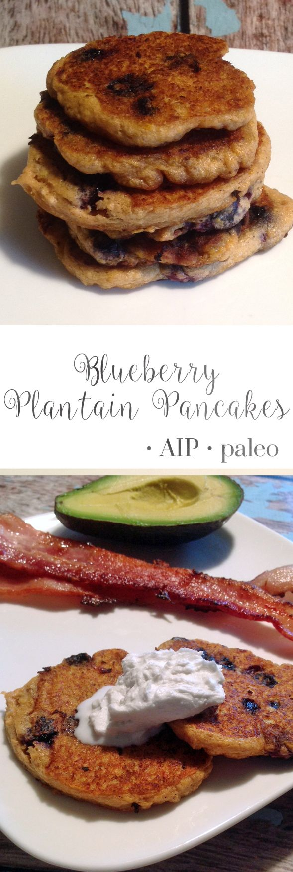 Blueberry Plantain Pancakes | Real Food & Love
