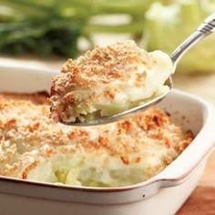 Kohlrabi  Ham Gratin Recipe I added Mrs. Dash, Garlic & Herb breadcrumbs and…