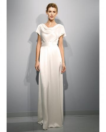 57 Grand: This effortless draped gown is made with soft silk-charmeuse fabric and features a cowl neckline and slit sleeves. Liberty, 57grand.com