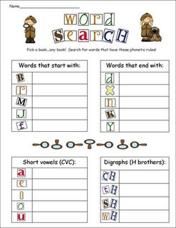 Word work activities- great for K/1 work station