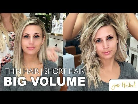 (1470) The Perfect 10 Minute Voluminous Bouncy Waves Tutorial || Short + Thin Ha…