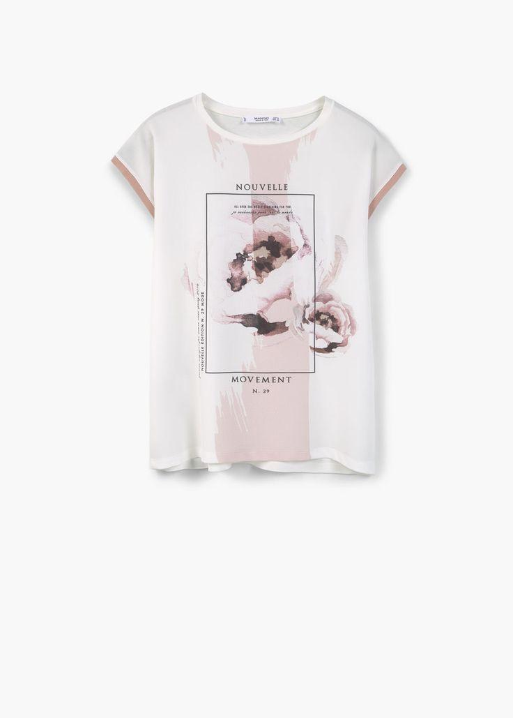 Camiseta estampado contraste