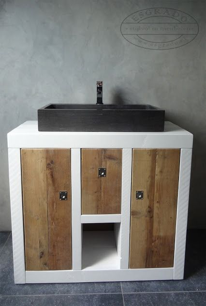 ESGRADO stijlvol in meubelen badkamermeubel met hardsteen # Esgrado Wasbak_224758