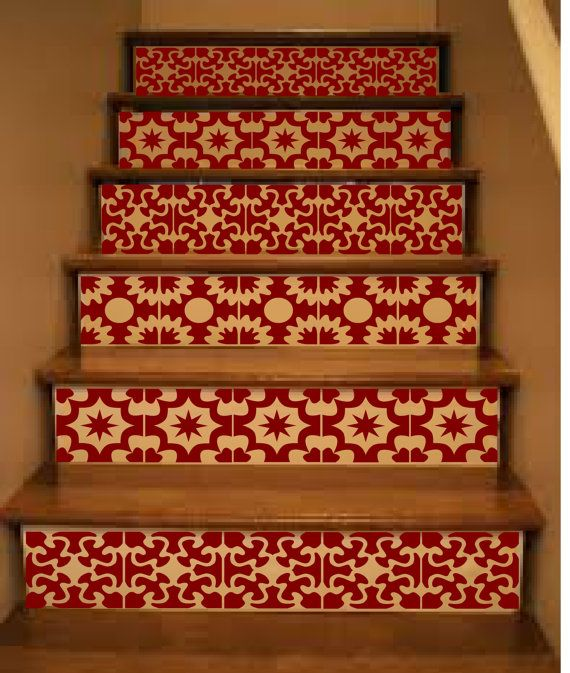 Awesome Vinyl Stair Tiles . Spanish Style Staircase Decal By Crowbabys, $27.00