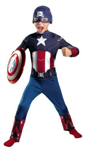 The Avengers Captain America Classic Toddler/Child Costume Disguise. $28.95