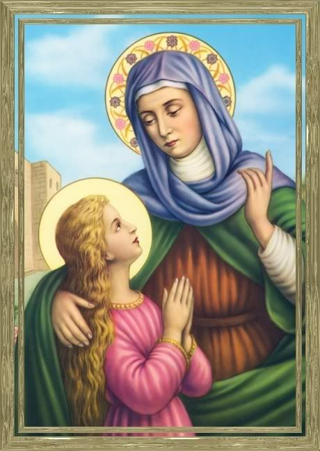Today, July 26, we celebrate the feast day of Saint Joachim and Saint Anne , parents of Our Blessed Mother, and grandparents to Jesus Christ...
