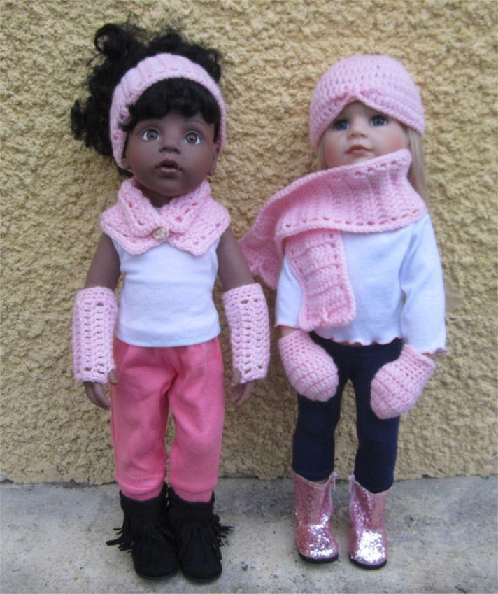 """116- FICHE PATRON CROCHET Ensemble """"Bien au chaud"""" pour poupée Hannah de Götz : Jeux, jouets par atelier-crochet"""