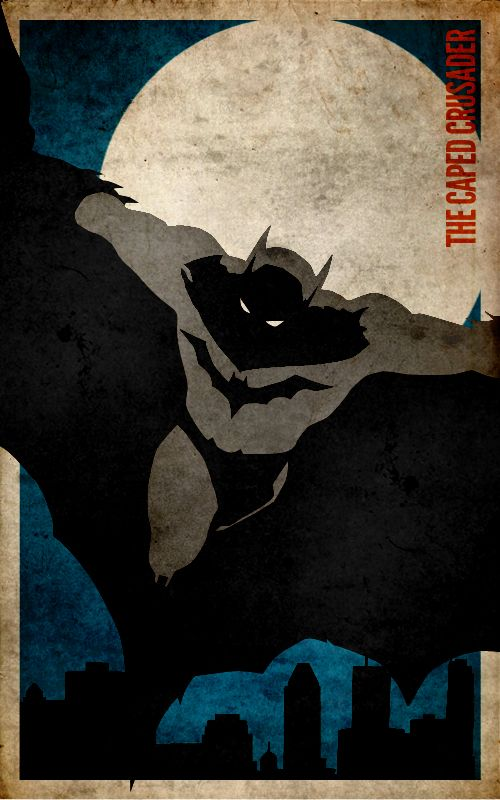 Batman Minimalist Poster by knight-of-solitude.deviantart.com on @deviantART
