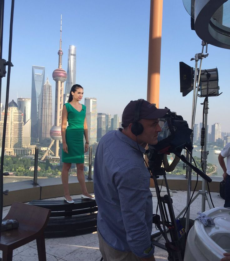 A glorious day to film in Shanghai. With uber-cameraman Scott Clotworthy. Pic by Melissa Hassett.